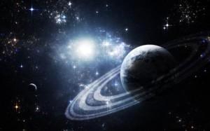 Planet in blaze of stars